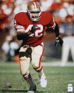 Ronnie Lott Autographed/Signed San Francisco 49ers 16x20 Photo HOF JSA 33492