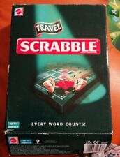 TRAVEL SCRABBLE EVERY WORD COUNTS COMPLETE LOVELY CONDITION MATTEL 2005 XMAS FUN