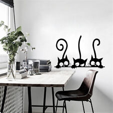 removable three black cat wall stickers art decal mural diy kids bedroom deco TK