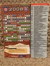2008 CHICAGO CUBS MAGNET SCHEDULE OLD STYLE SPONSORED - NEAR MINT