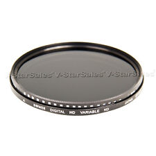 Bower 72mm Variable Neutral Density Fader NDX Filter ND2 to ND1000 FN72