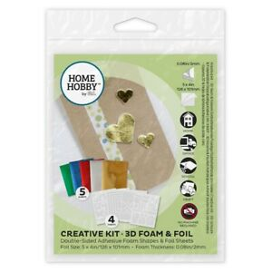 HOMEHOBBY by 3L Scrapbooking Creative Kit 3D 4 Foam Sheets & 5 Sheets of Foil