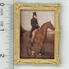 Dollhouse Miniature 1:12 Equestrian Print of a Man on His Horse