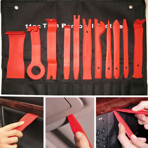 11Pcs Red Nylon Auto Car Audio Door Dash Tirm Panel Install & Removal  Pry Tools