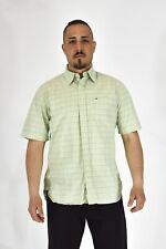 TOMMY HILFIGER Camicia Verde A Quadri Stile Casual In Cotone TG L Uomo Man