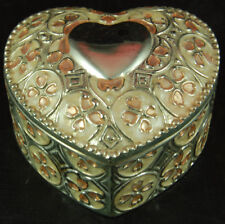 Heart-Shaped Metal Trinket Box