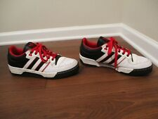 Classic 2008 Used Worn Size 12 Adidas Attitude Low Shoes Black White Red