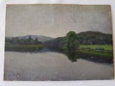Landscape Painting signed Joel Levitt 1915 N.Y. oil on board