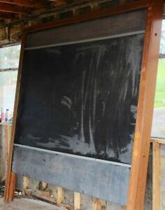Full size Vintage , old school wall mounted rotating blackboard