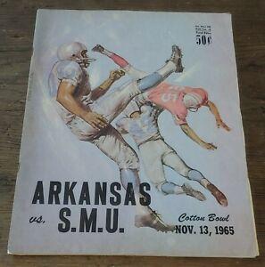 1965 Arkansas Razorbacks vs SMU Football Program 11-13-65