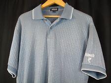Ashworth Mens Short Sleeve Gray Silver Stripe Polo Golf Shirt L