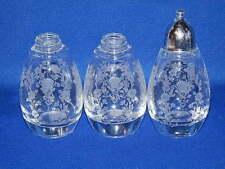 DUNCAN MILLER GLASSWARE FIRST LOVE 3 SALT PEPPER SHAKERS