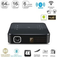 Portable 2G + 16G Android 7.1 DLP 5000 Lumens Home Cinema Projector 4K Wifi HDMI