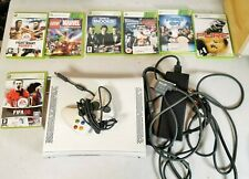 Microsoft Xbox 360 Console With 7 Games, Controller & Cables - Great Bundle