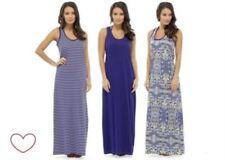 Robe maxi bleus en polyester pour femme