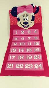 Disney Minnie Mouse Felt Advent Calendar New