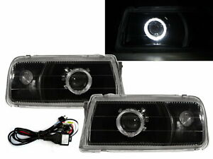 Tracker 1988-1998 Guide LED Angel-Eye Projector Headlight Black V1 for GEO LHD