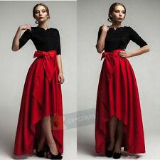 New Hi-Lo Ladies Party Skirts Women Wedding Skirts Satin Formal Evening Skirts
