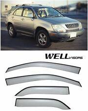 For 99-03 Lexus RX300 WellVisors Side Window Defectors Visors W/ Black Trim
