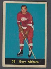 1960-61 Parkhurst Detroit Red Wings Hockey Card #33 Gary Aldcorn