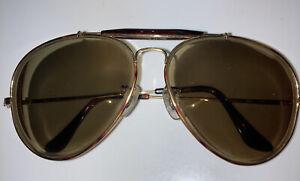 Vintage Ray Ban Aviator Outdoorsman II Mock Tortoise/Gold Frames, 62mm. B&L Case