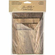 Advantus Tim Holtz Idea-ology Wooden VIGNETTE Panels 4pcs TH93295