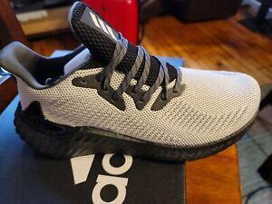 Men's Adidas Alphaboost Boost Running Shoes Comfort Black/Grey FW4548 Size 10.5