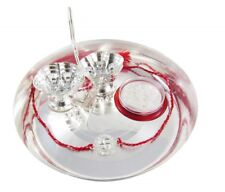 Silver Plated Pooja Thali with Pure 999 Silver Nakshi Swastik  For Diwali Gift