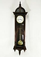 More details for vienna kieninger wall clock - vintage 2 weight chiming long case german clock