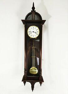VIENNA KIENINGER WALL CLOCK - Vintage 2 Weight Chiming Long Case German Clock