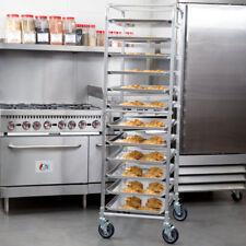 12 Pan Aluminum End Load Bakery Bun Sheet Pan Speed Rack