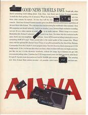 "Aiwa Camcorder VHS 1986 Original Print Ad 9 x 11"" Playboy Magazine 1980s 80s"
