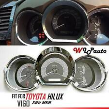 TOYOTA HILUX VIGO KUN SR5 MK6 2005-2011 CHROME DASH GAUGE COVER TRIM ABS FIT