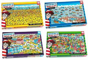 WHERE'S WALLY 100 - 250 PIECES PUZZLE Sea Dinossaurs Kids City Family Town City