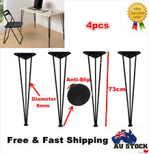 4 x Table Hairpin Legs Raw Steel 73cm Furniture Desk Legs Heavy Duty 3 Rod