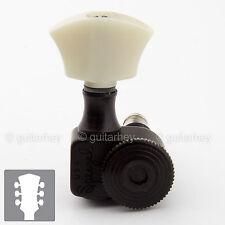 NEW Sperzel Trimlok Locking Guitar Tuners Trim-Lok w/ PEARL Buttons 3x3 - BLACK
