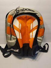 Babolat Club Line Tennis Backpack Gear Bag Racquet Holder Black Orange Silver