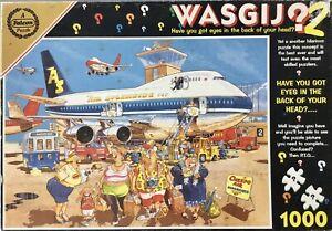 WASGIJ 2 #3756 Happy Holidays 1000 Piece Jigsaw Incomplete 1 Piece Missing
