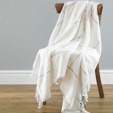 Country Club Isla Cream Pink Acrylic Throw 130cm X 170cm Sofa Chair Cover