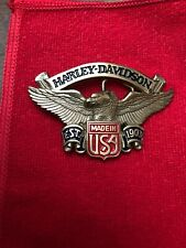 Rare Solid Brass Harley Davidson Belt Buckle