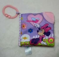 Disney Minnie Mouse Soft Baby Book Crinkle and Squeak Sounds Bright Colors