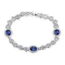 Platinum Plated Bracelet 8.50 Inch AAA Zirconia Snap Lock Clasp L156