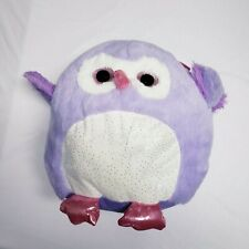 "Purple Owl Plush Stuffed Animal 12"" Round"