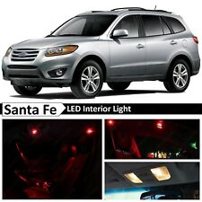 10x Red Interior Map Dome LED Lights Package Kit Fit 2007-2012 Hyundai Santa Fe