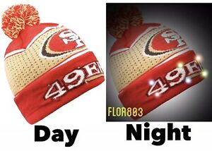 NFL San Francisco 49ers Holiday Light Up Beanie