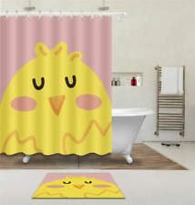 Cute Chicken Waterproof Bathroom Polyester Shower Curtain Liner Water Resistant