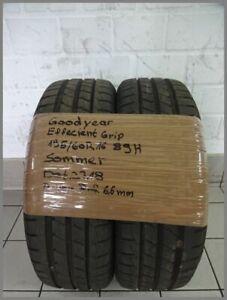 2x Goodyear195 60 R16 89H Effecient Grip DOT2718 6,6mm Sommerreifen