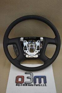 2007-2013 Chevrolet Silverado GMC Sierra Steering Wheel Ebony new OEM 22947808