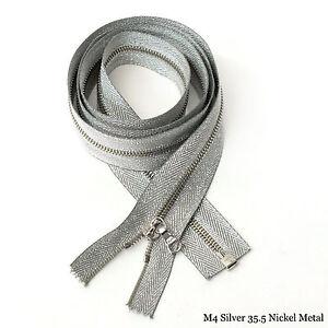 RiRi Zipper m4, 1 Way Separating End Nickel Silver 3200, Metal Twill, Flach 35.5