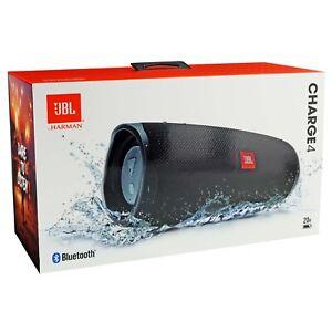JBL Charge 4 Portable Bluetooth Speaker Black 20 HR Charge Waterproof NEW SEALED